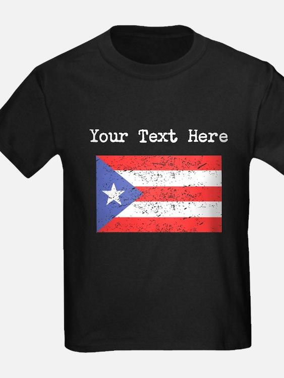 Puerto Rico Flag (Distressed) T-Shirt