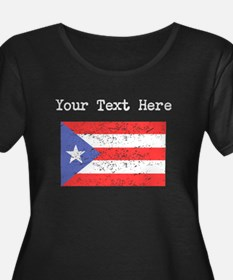Puerto Rico Flag (Distressed) Plus Size T-Shirt
