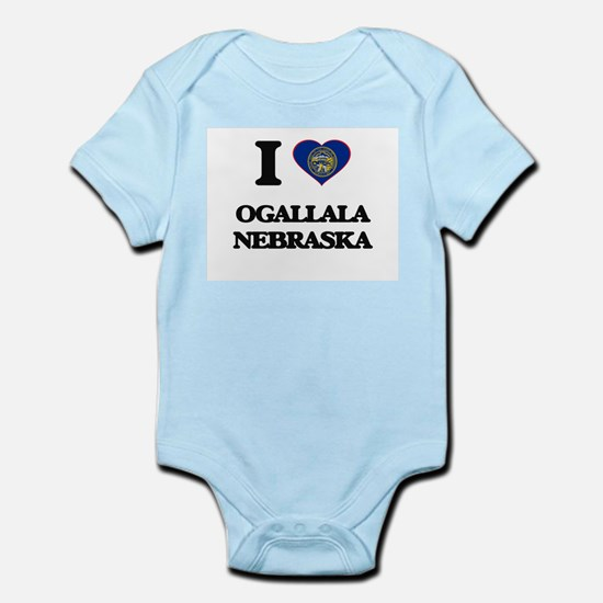 I love Ogallala Nebraska Body Suit