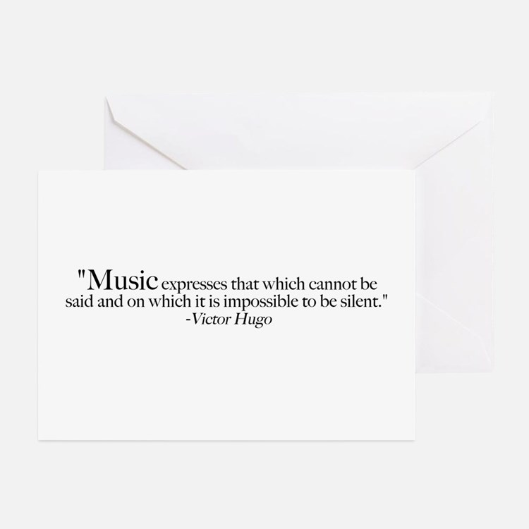 Victor Hugo Quote Greeting Cards (Pk of 20)