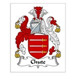 Chute Family Crest Small Poster