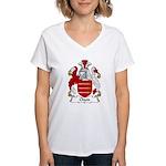 Chute Family Crest Women's V-Neck T-Shirt