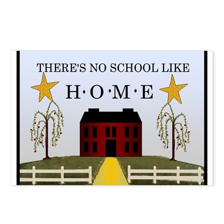 There's No School Like Home Postcards (Package of