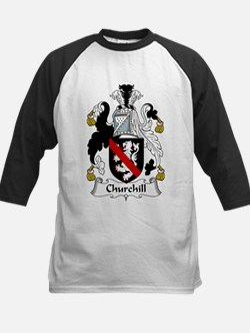 Churchill Family Crest Kids Baseball Jersey