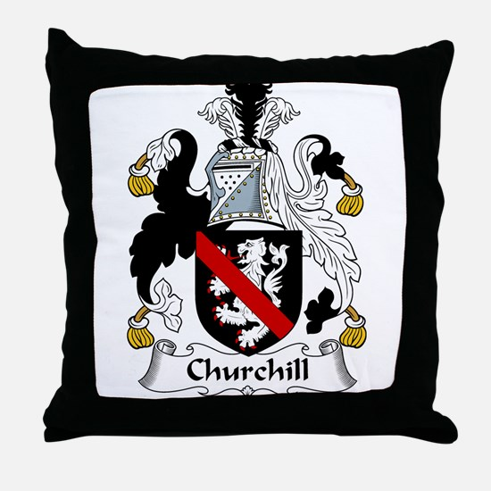 Churchill Family Crest Throw Pillow