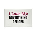 I Love My ADVERTISING OFFICER Rectangle Magnet (10