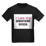 I Love My ADVERTISING OFFICER Kids Dark T-Shirt