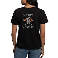 Happy Camper-Skull-1-Grey T-Shirt
