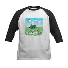 I love camping-5-Green Baseball Jersey