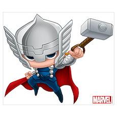Thor Stylized 2 Wall Art Poster