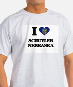 I love Schuyler Nebraska T-Shirt