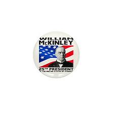 25 McKinley Mini Button