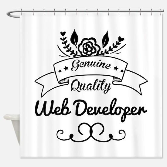 Genuine Quality Web Developer Shower Curtain