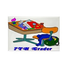 7th Grade Desk Design Rectangle Magnet