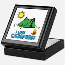 I Love Camping-3-Blue Keepsake Box
