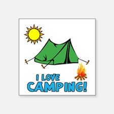 I Love Camping-3-Blue Sticker