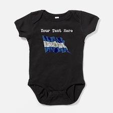 Nicaragua Flag (Distressed) Baby Bodysuit