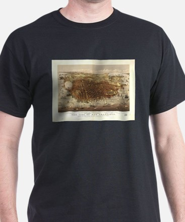 Vintage Pictorial Map of San Francisco (18 T-Shirt