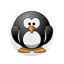 Cartoon Penguin Button