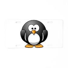 Cartoon Penguin Aluminum License Plate