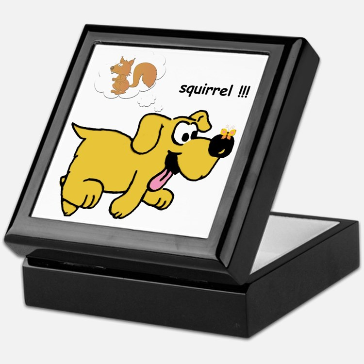 Gold Dog  Keepsake Box