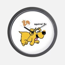 Gold Dog  Wall Clock