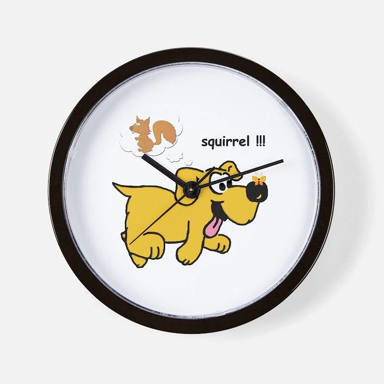 Gold Dog  Wall Clock