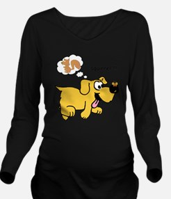 Gold Dog  Long Sleeve Maternity T-Shirt
