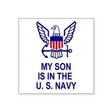 "Unique Navy son Square Sticker 3"" x 3"""
