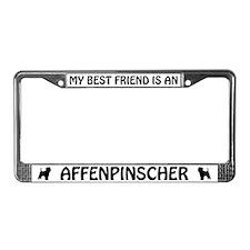 My Best Friend is an Affenpinscher License Frame