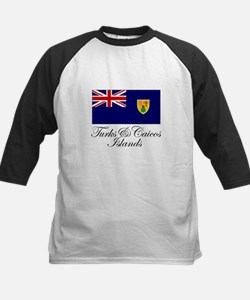 The Turks and Caicos Islands Kids Baseball Jersey