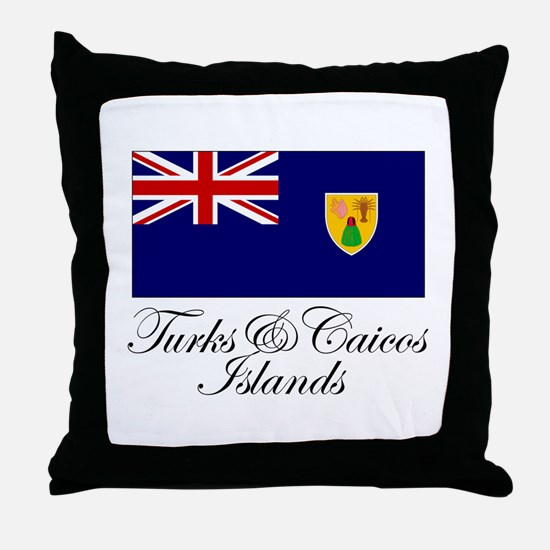 The Turks and Caicos Islands Throw Pillow