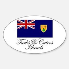 The Turks and Caicos Islands Oval Decal