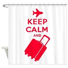Keep Calm and Carry on Luggage Shower Curtain