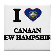 I love Canaan New Hampshire Tile Coaster