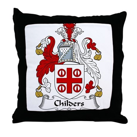 Childers Family Crest Throw Pillow