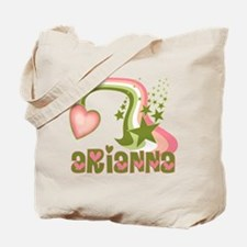 Rainbows & Stars Arianna Personalized Tote Bag