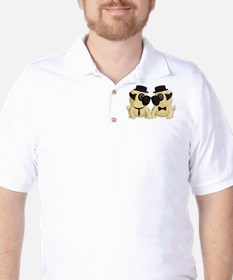 Groom Pugs Golf Shirt
