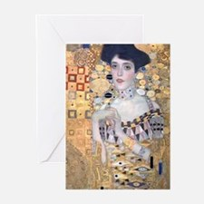 Klimt The Lady In Gold Art Deco Greeting Cards