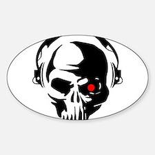 Terminator Dj Skull Dubstep Cyber Punk Har Decal