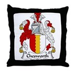 Chesworth Family Crest Throw Pillow