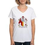 Chesworth Family Crest Women's V-Neck T-Shirt
