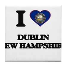 I love Dublin New Hampshire Tile Coaster