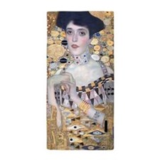 Klimt Lady In Gold Art Deco Beach Towel