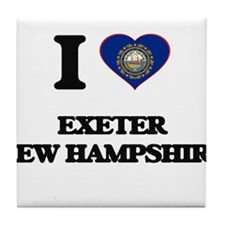 I love Exeter New Hampshire Tile Coaster