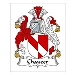 Chaucer Family Crest Small Poster