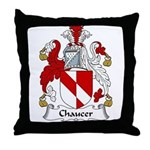 Chaucer Family Crest Throw Pillow