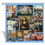 Art History Art 101 Vintage Shower Curtain