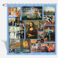 Art History Art 101 Vintage Shower Curtain