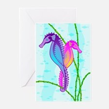 SeaHorse Sea-lebrities Greeting Cards (Pk of 10)